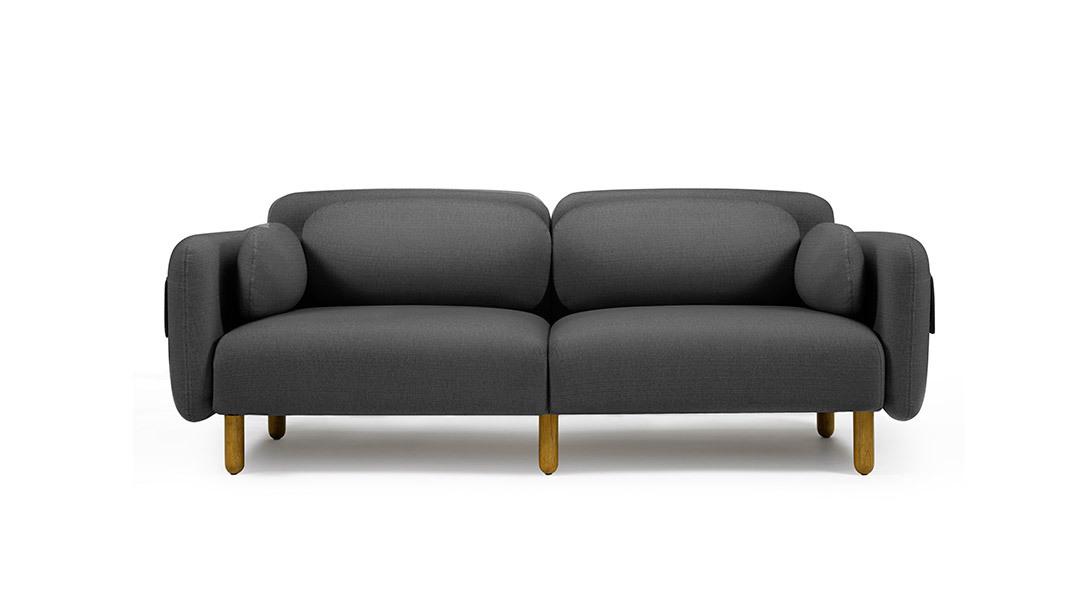 鹅卵石沙发三人座沙发