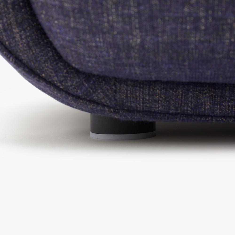 圆柱隐形铁腿+脚垫
