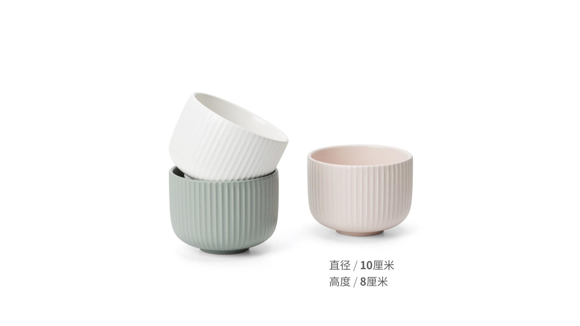 折简餐具组-盘碗碗套装餐具效果图