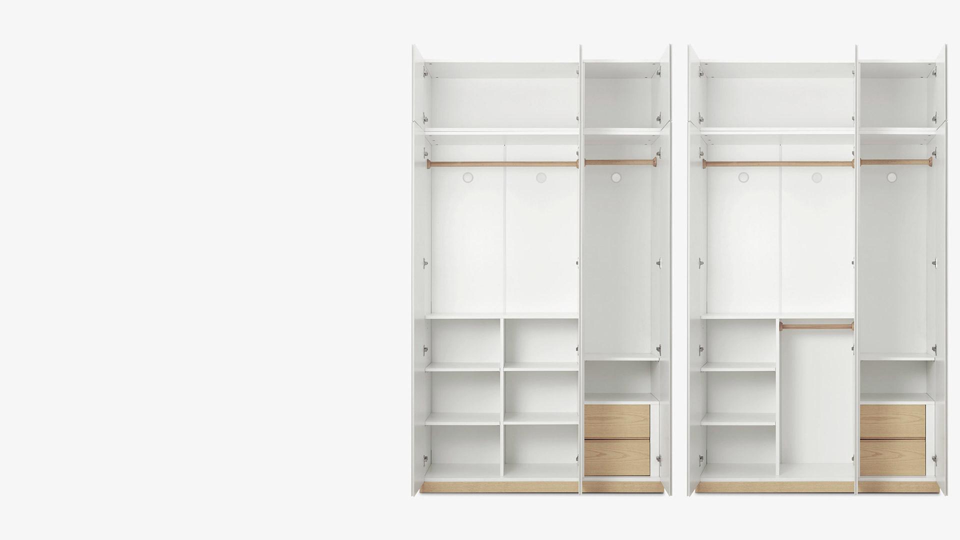 A/B兩款空間布局<br/>滿足不同尺寸衣物收納