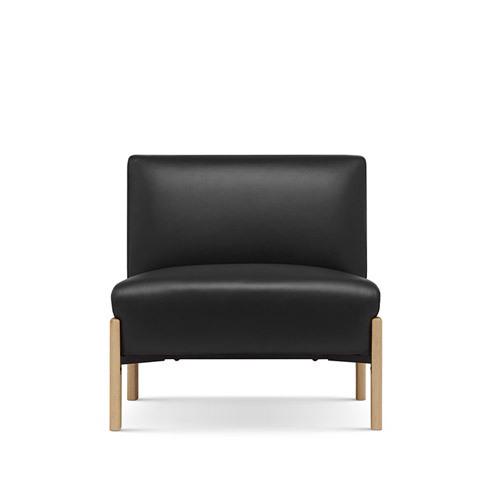 飞鸟沙发真皮版无扶手单人座沙发效果图