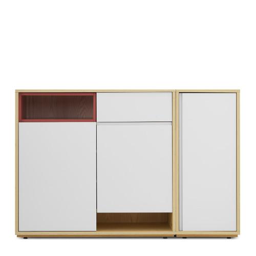 青山鞋柜-1.4米鞋柜+盒子