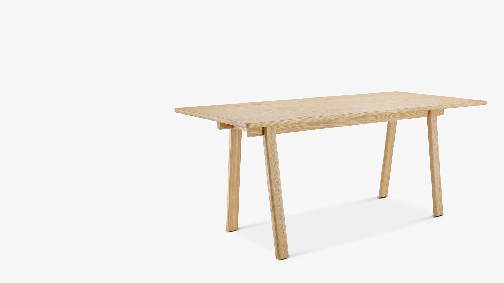 木构建筑灵感<br/>打造全实木挺拔桌几