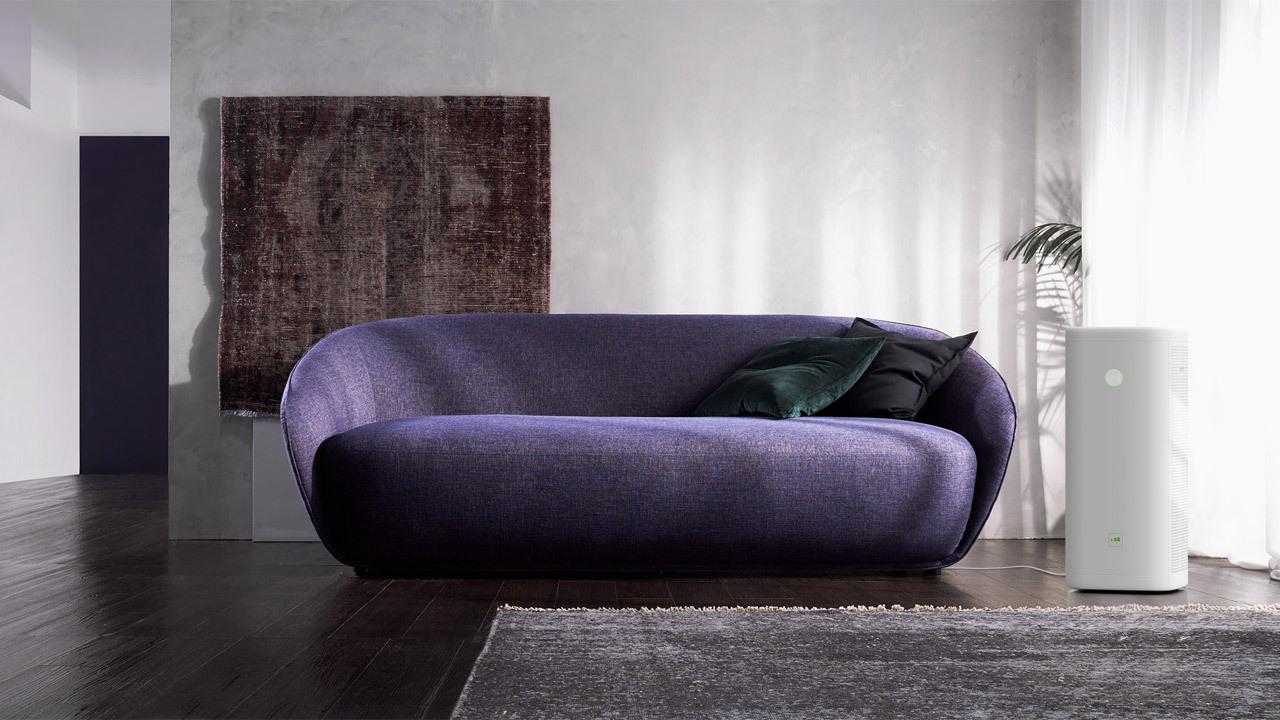 ▲ 方形曲线设计,与曲线飞扬,更具女性气质的贝岛沙发搭配,不失柔美格调