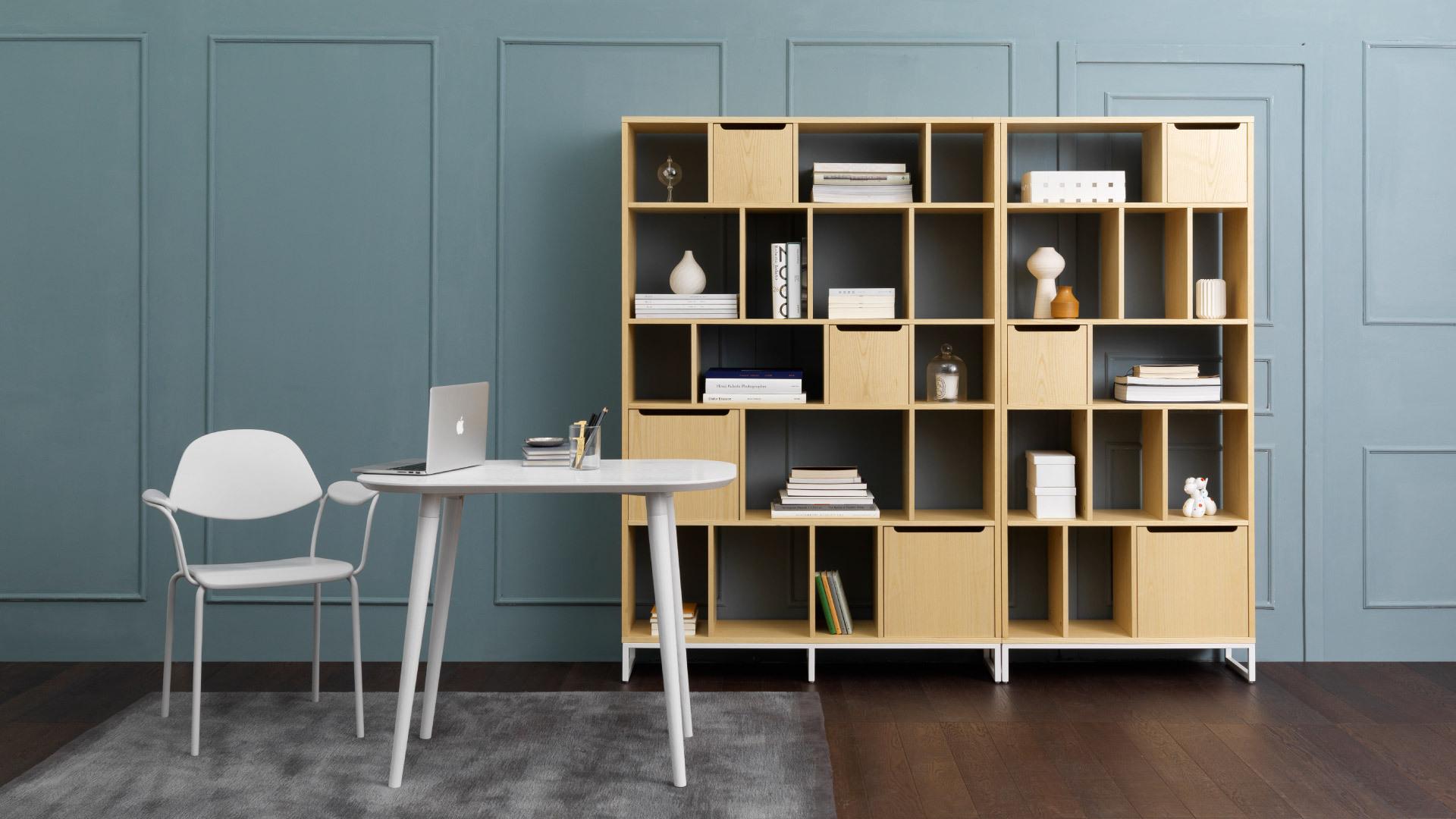 給書房墊一層暖色基調
