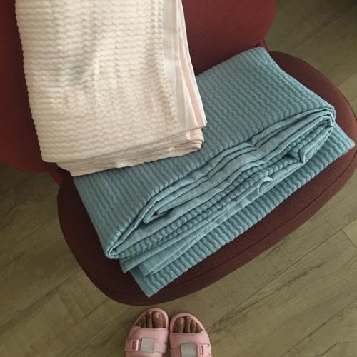 南方小毛_棉花糖立体色织纱布毛巾被单人毯怎么样_1