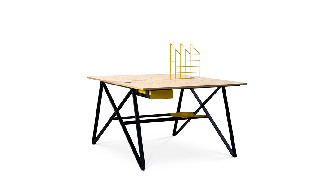 X Desk单人位(含屏风)桌几
