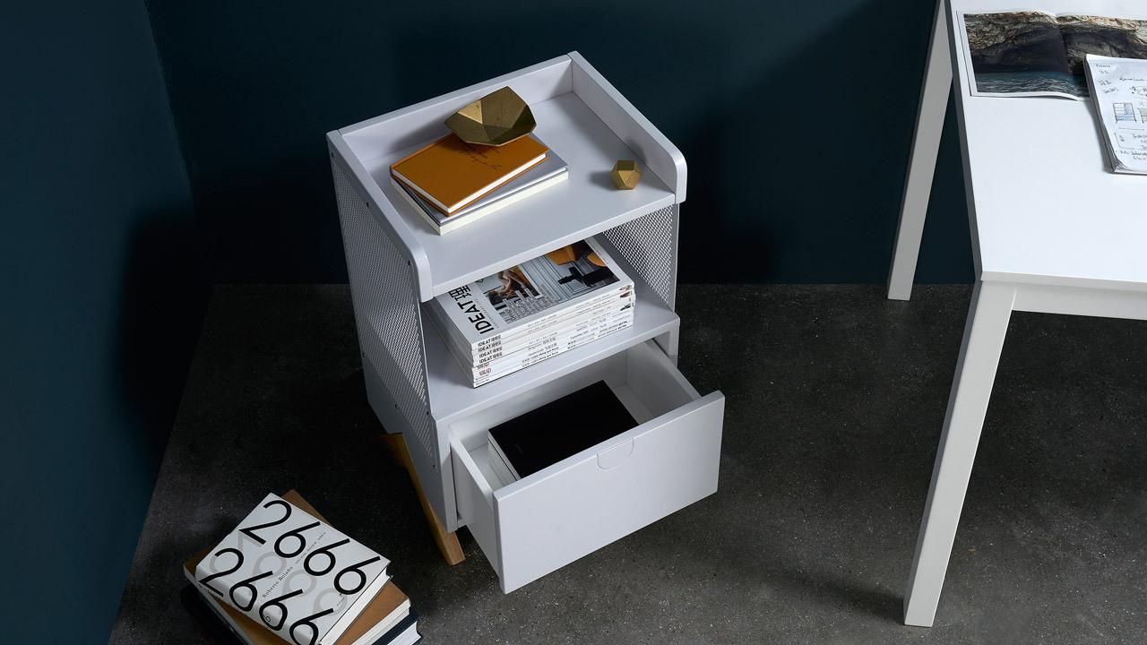 开放式便携储物,解放写字桌