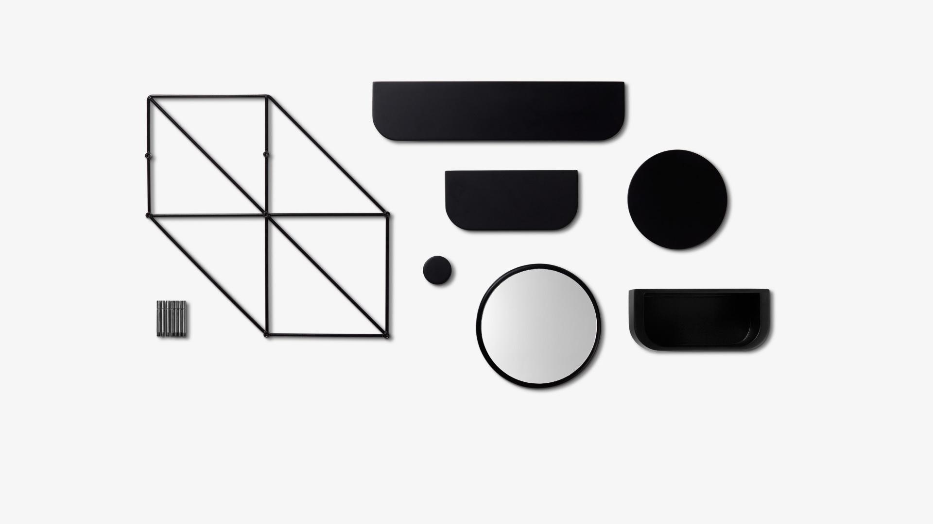 蜂巢框架+6个配件的自由组配