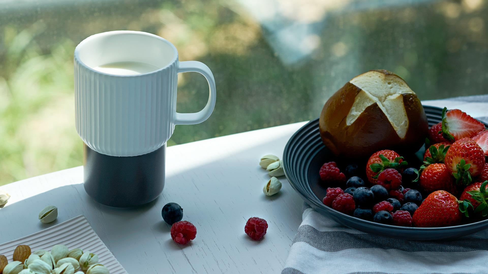 马克杯清甜奶香,唤醒元气清晨