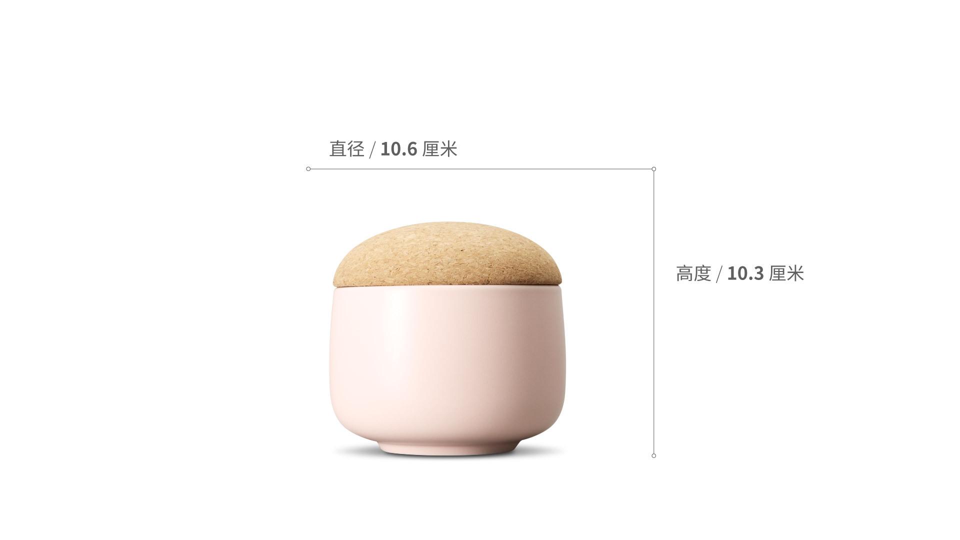 蘑菇储物罐矮罐餐具效果图