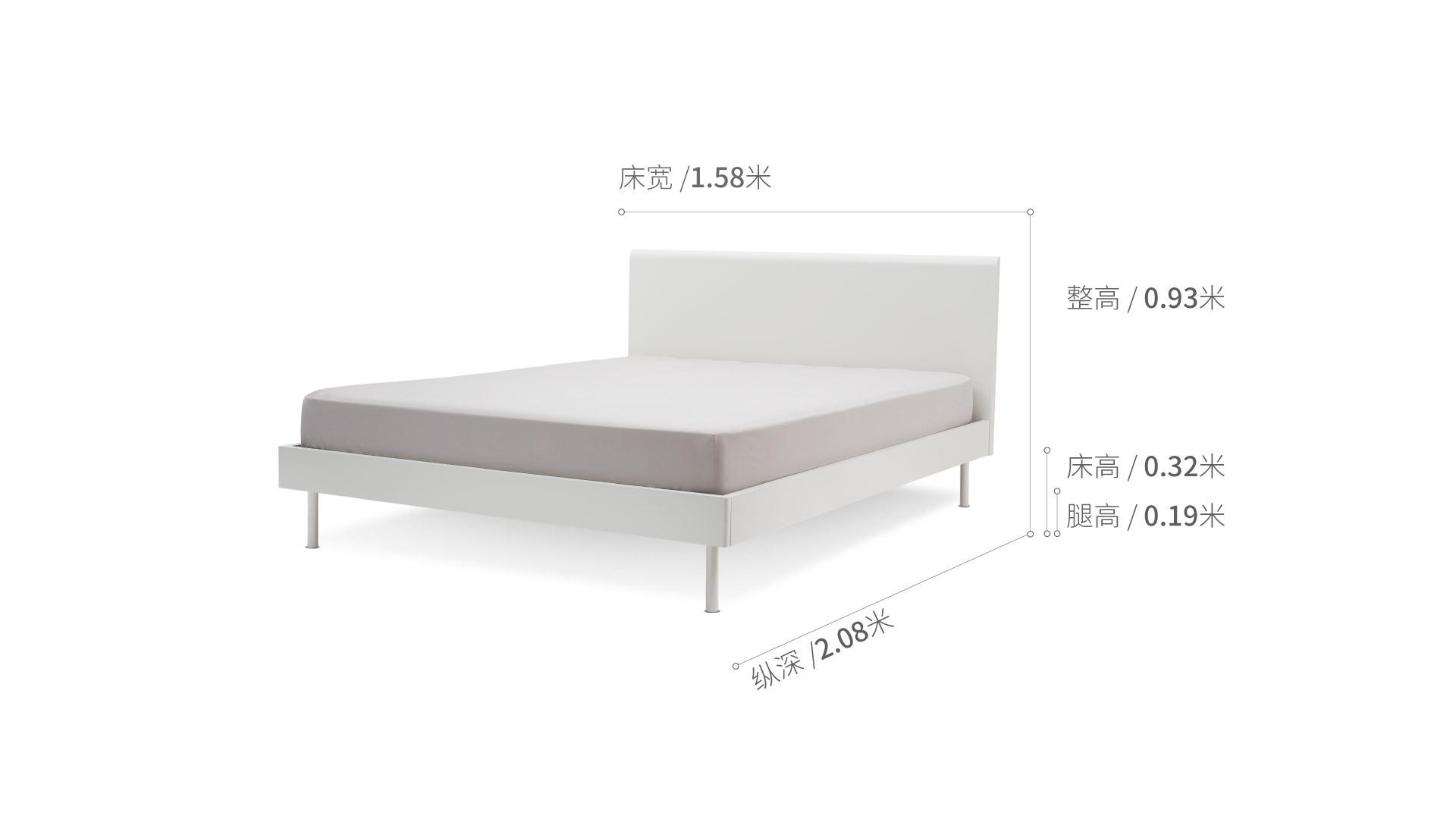 贡多拉床1.5米款床·床具效果图