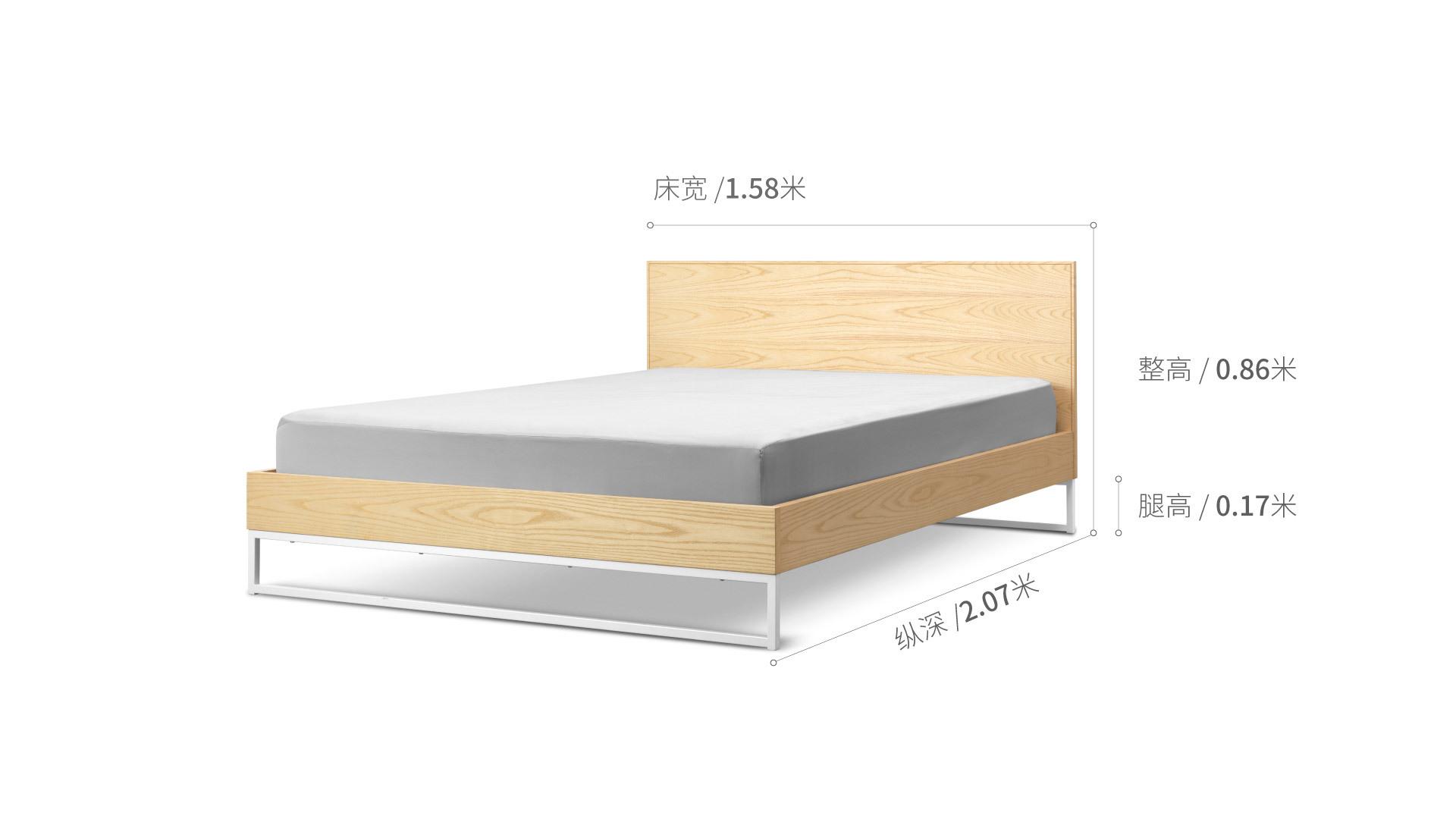 画板床®1.5米款床·床具效果图
