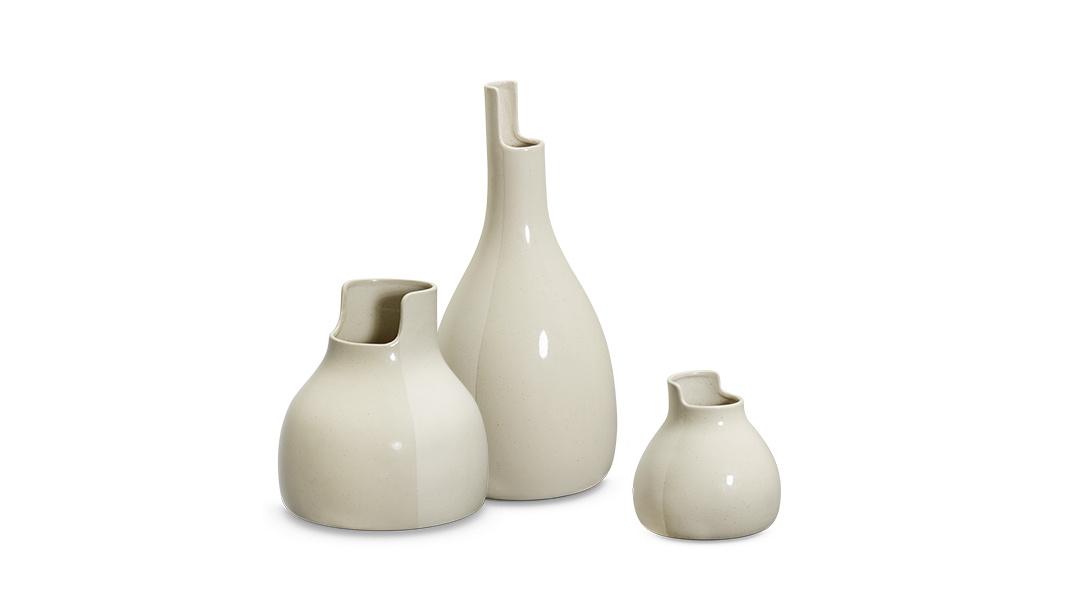 双生陶瓷花瓶大中小3只套装装饰