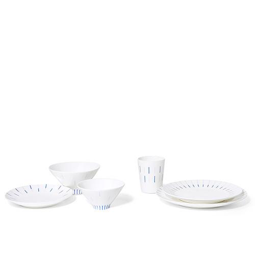 镜线西班牙瓷土餐具组