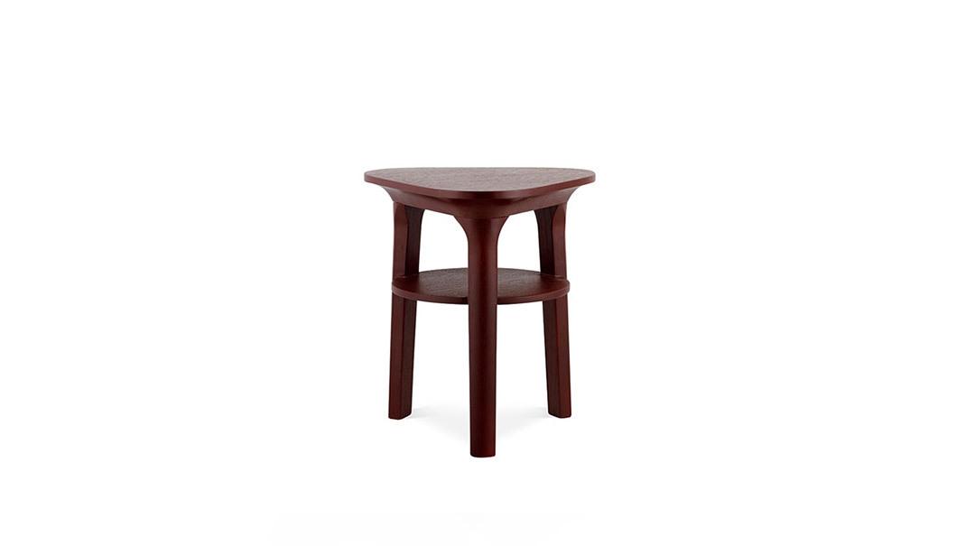 瓦檐边桌®方形边桌柜架