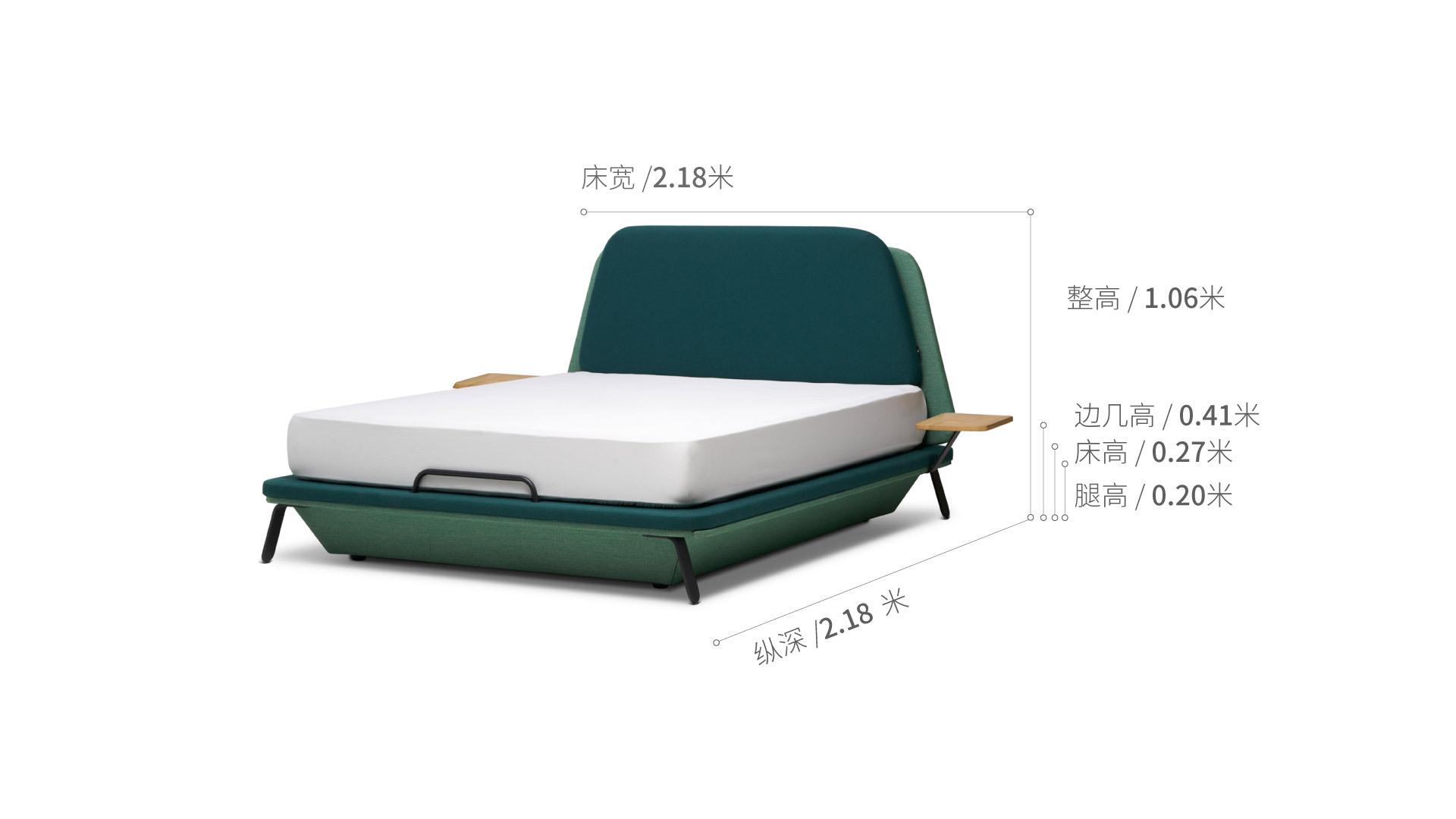 远航床1.5米款床·床具效果图