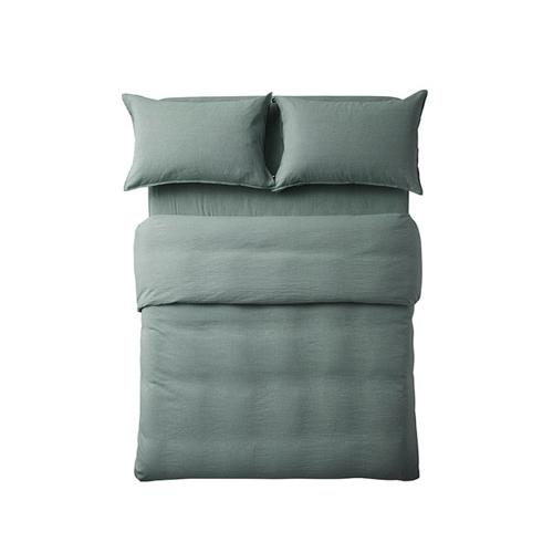 香草棉麻色织4件套床品床·床具