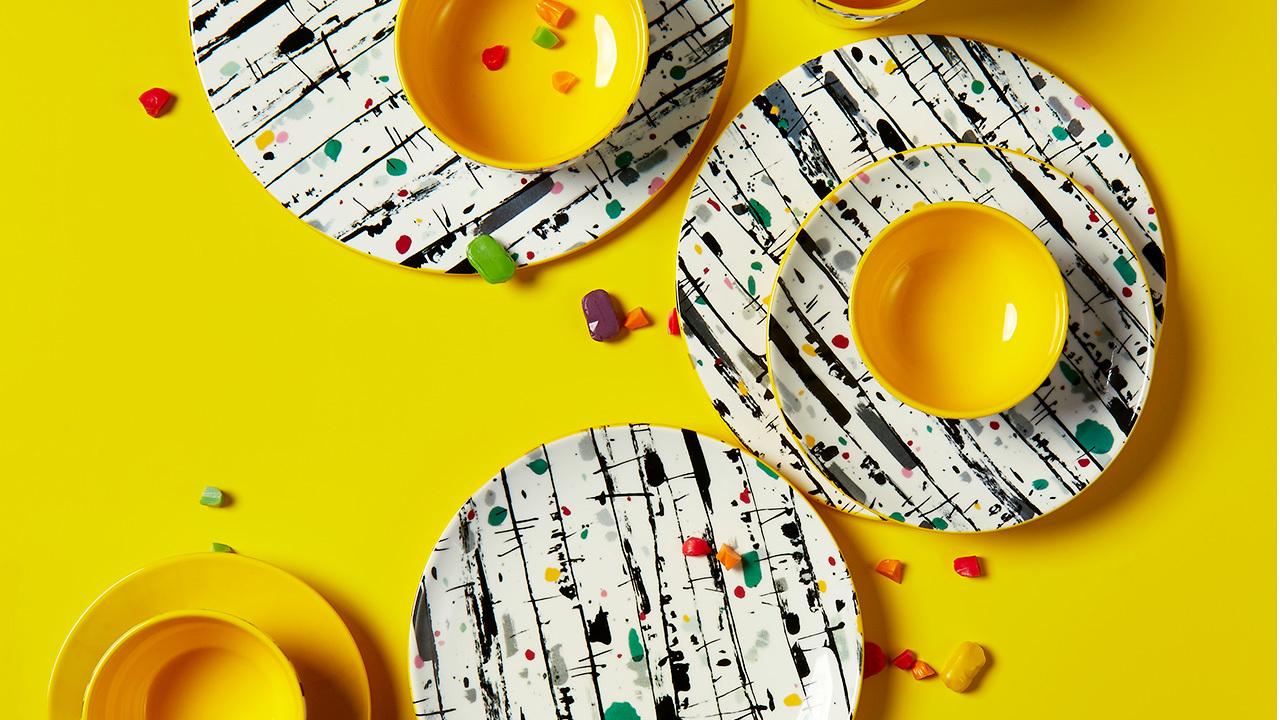 吴冠中系列纹样餐具 | 白桦林