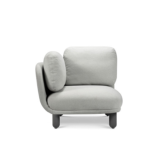 云团沙发升级版单人座左扶手沙发效果图