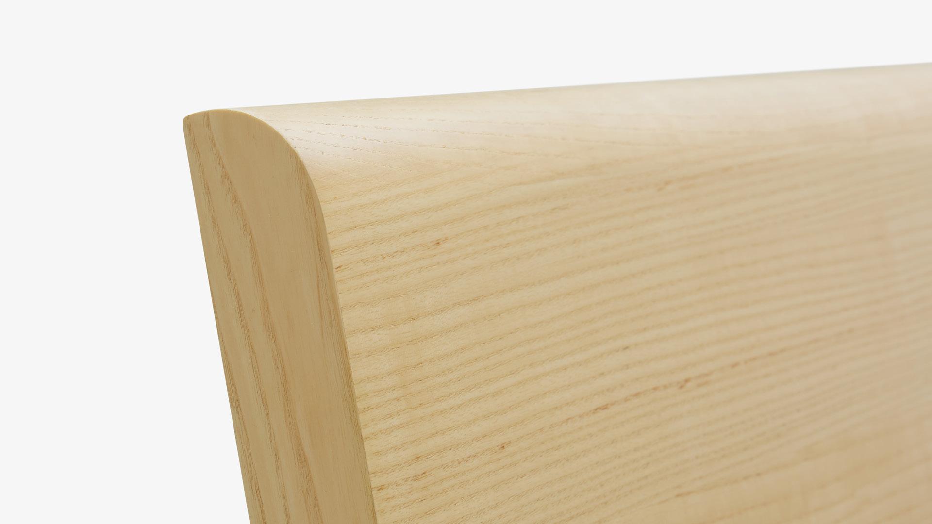 环保MDF+进口A级白蜡木皮<br/>精准弧面包覆,优美原木手感