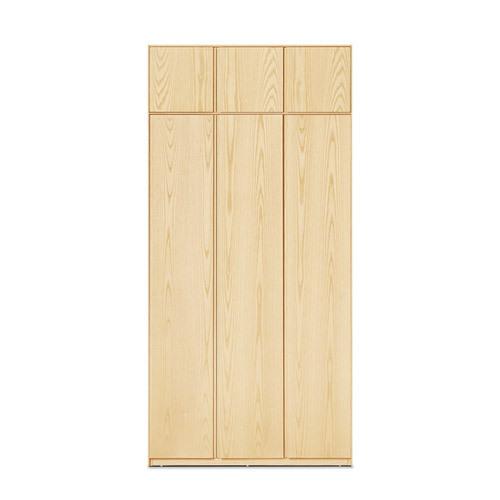 画板三门衣柜有顶柜柜架效果图
