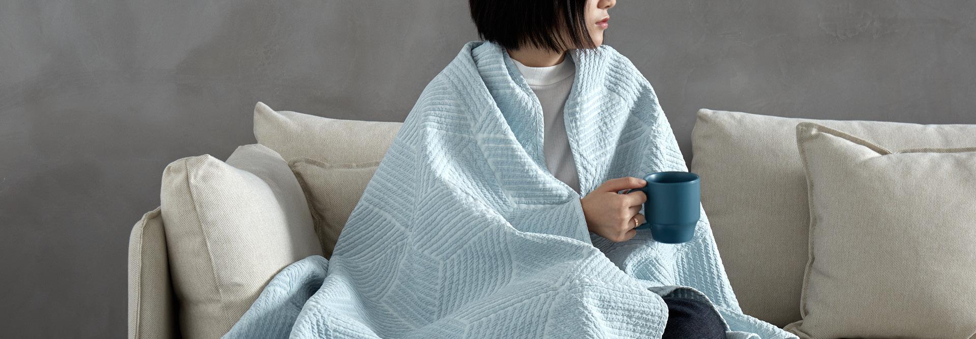宽大如被,一毯多用,婴儿级全家四季毯