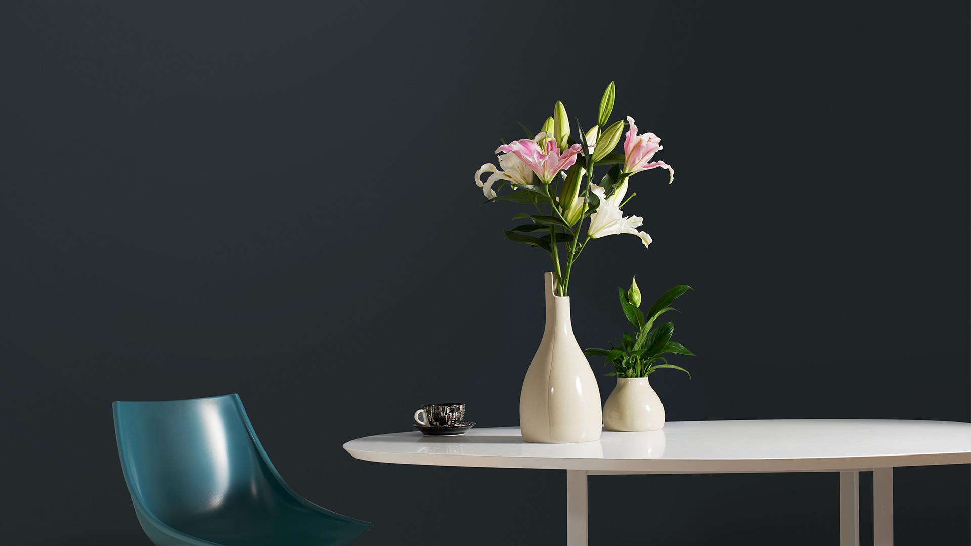 为餐厅提气的最快方式,莫过于找到和心水花材融为一体的绝配花器。用双生花瓶承托悠然的百合,质感餐厅添一抹性感柔媚。?x-oss-process=image/format,jpg/interlace,1