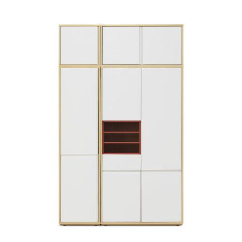 青山衣柜-三门(有顶柜)+层板盒