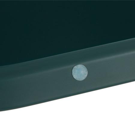 盒盖边缘装有4颗胶粒,减少与盒体的摩擦接触,更平稳牢固防止滑动
