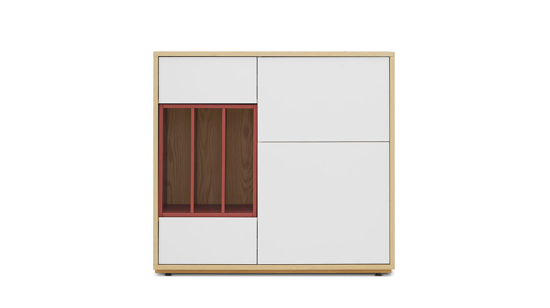 青山餐边柜1米宽柜体+大空盒柜架