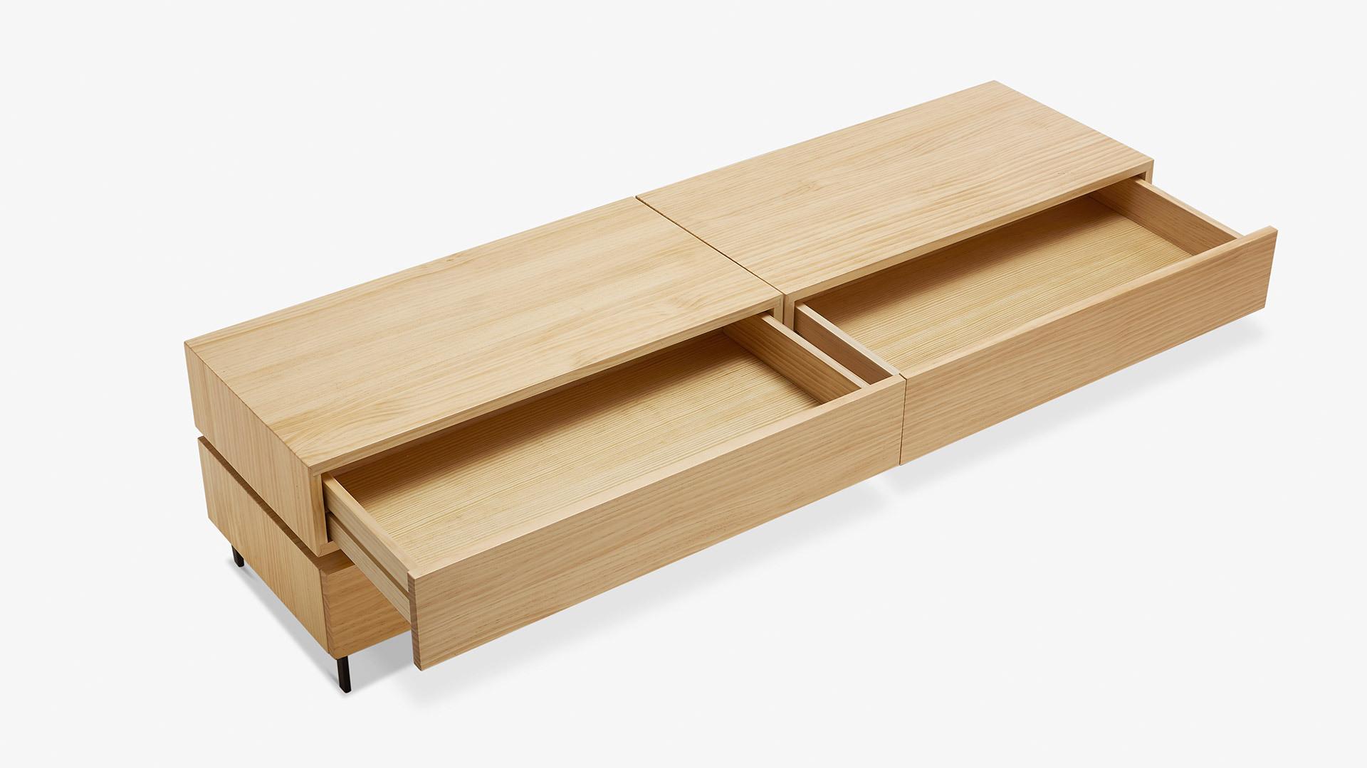 1柜1盒,让容积最大化<br/>单层可收纳更多