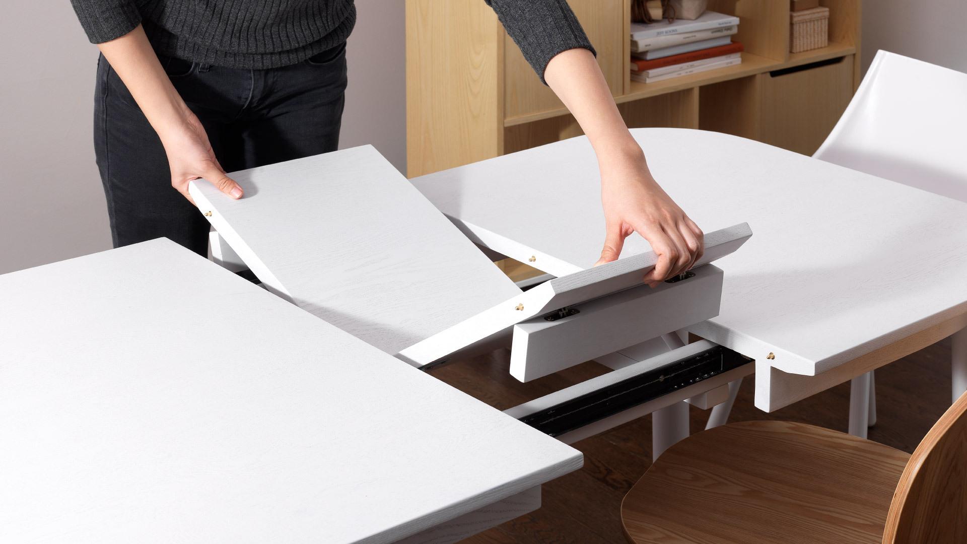 瓦雀伸缩桌,兼具颜值与功能性的漂亮伸缩桌
