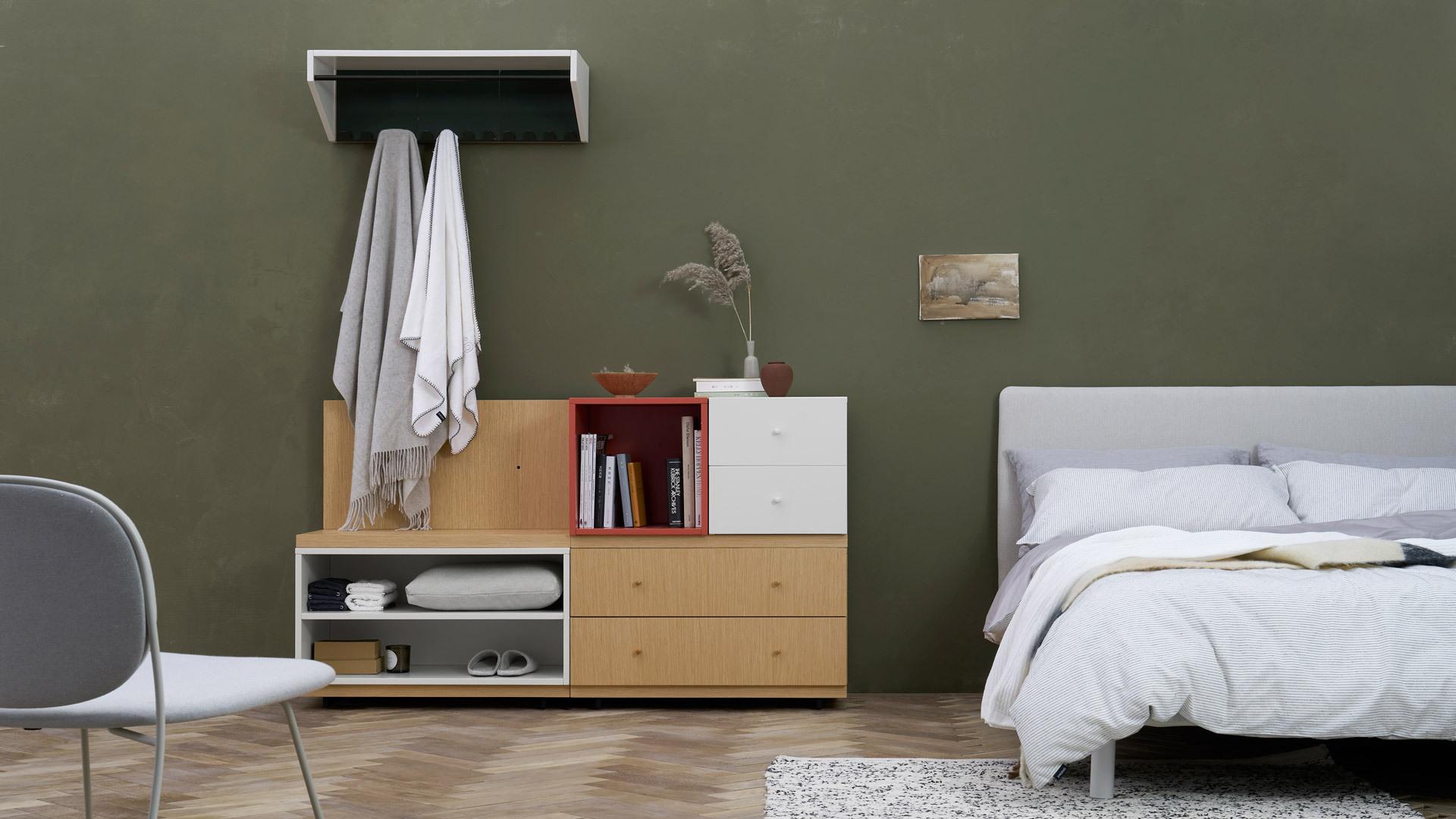 床头简易衣帽柜,节省更多空间