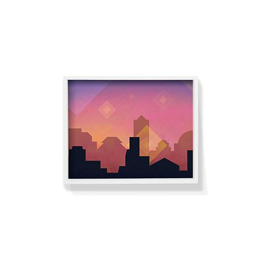 作画-城市系列图案3小号装饰效果图
