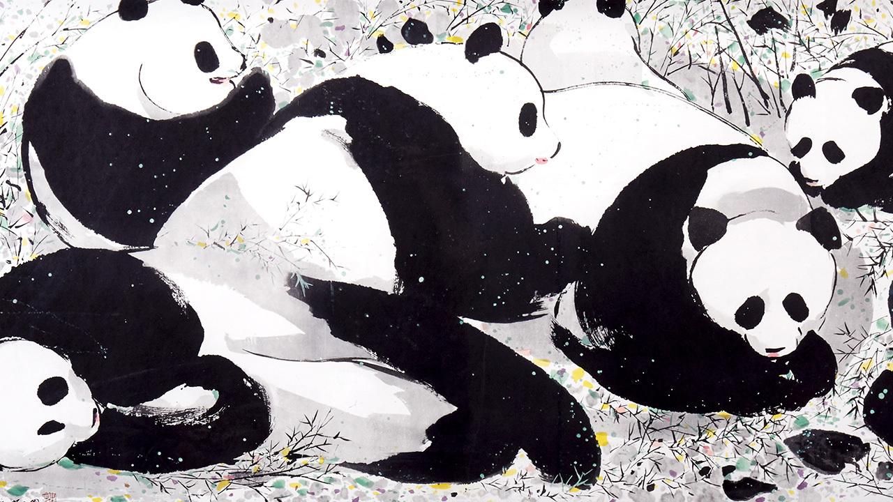 吴冠中系列版画 | 生灵,极具童话意味,简单的笔触与画面,是心里的简约艺术世界。