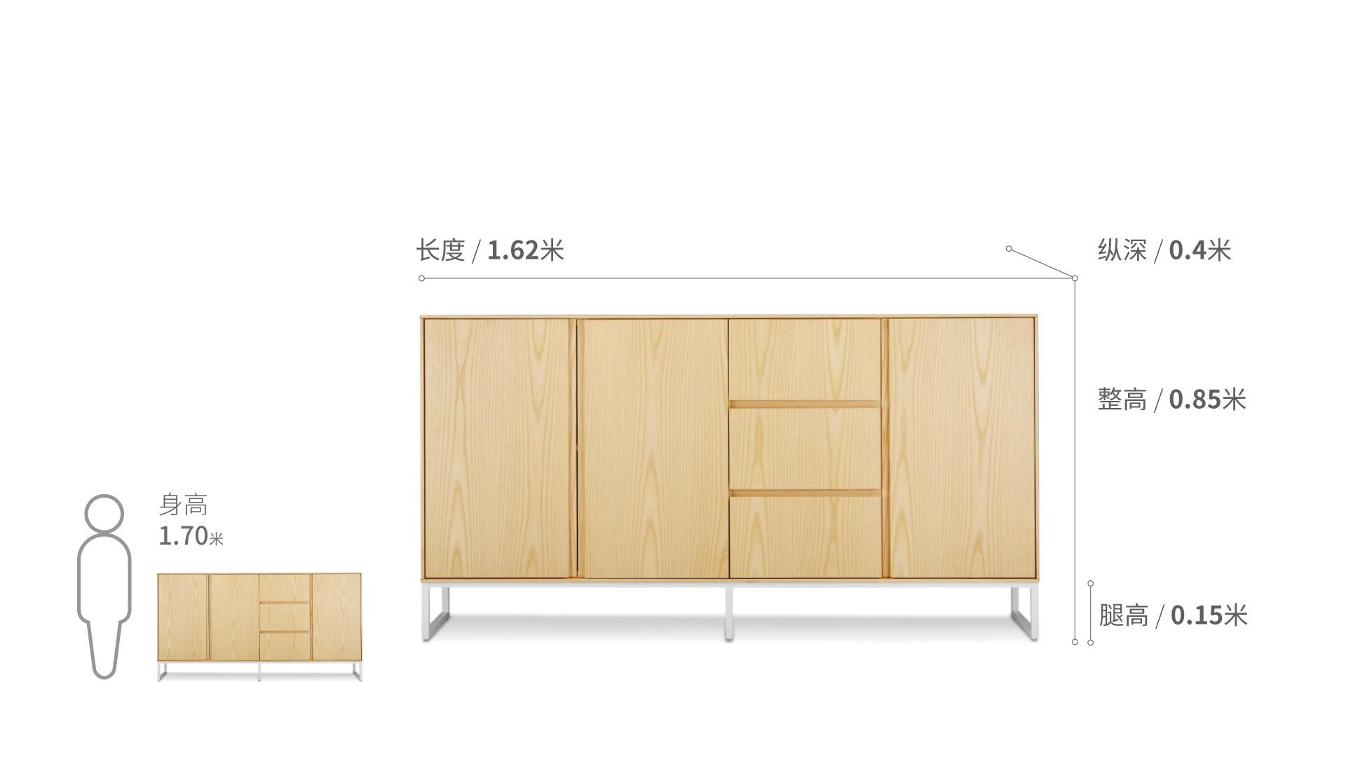 新画板餐边柜柜架效果图