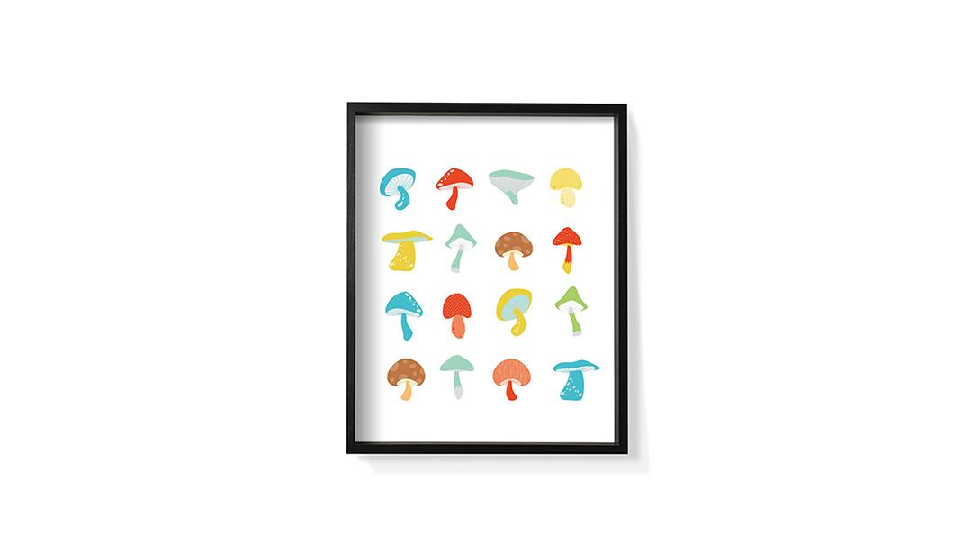 作画-蘑菇系列之彩装饰