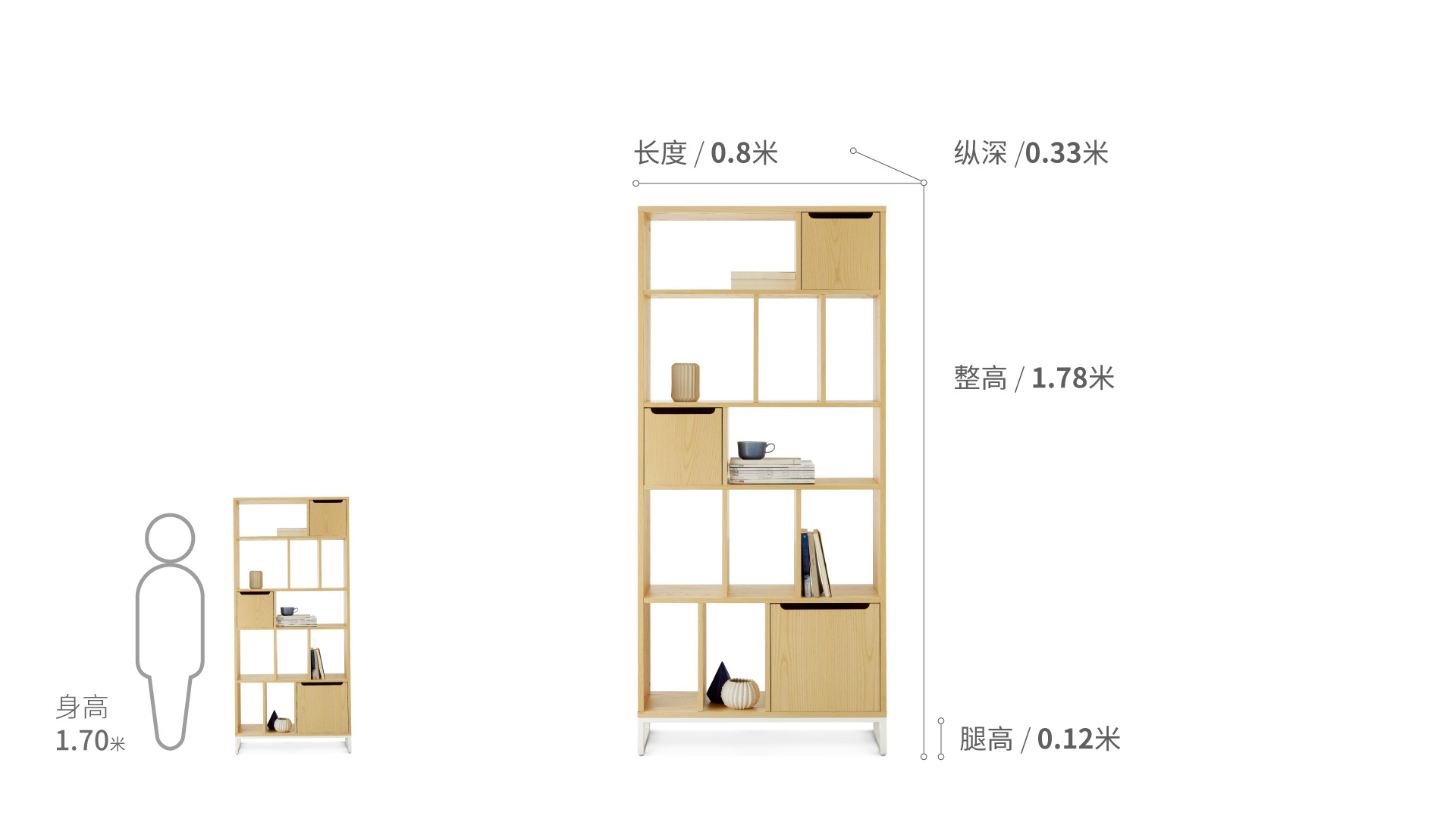 畫板書架?0.8米寬柜架效果圖