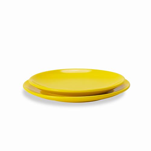 吴冠中系列纹样餐具-白桦林纯色盘套装餐具效果图