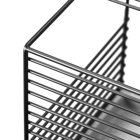 金属架与8根金属线,采用碰焊、氩氟焊、铜焊的精准搭配,铁架呈现规整优美的线条