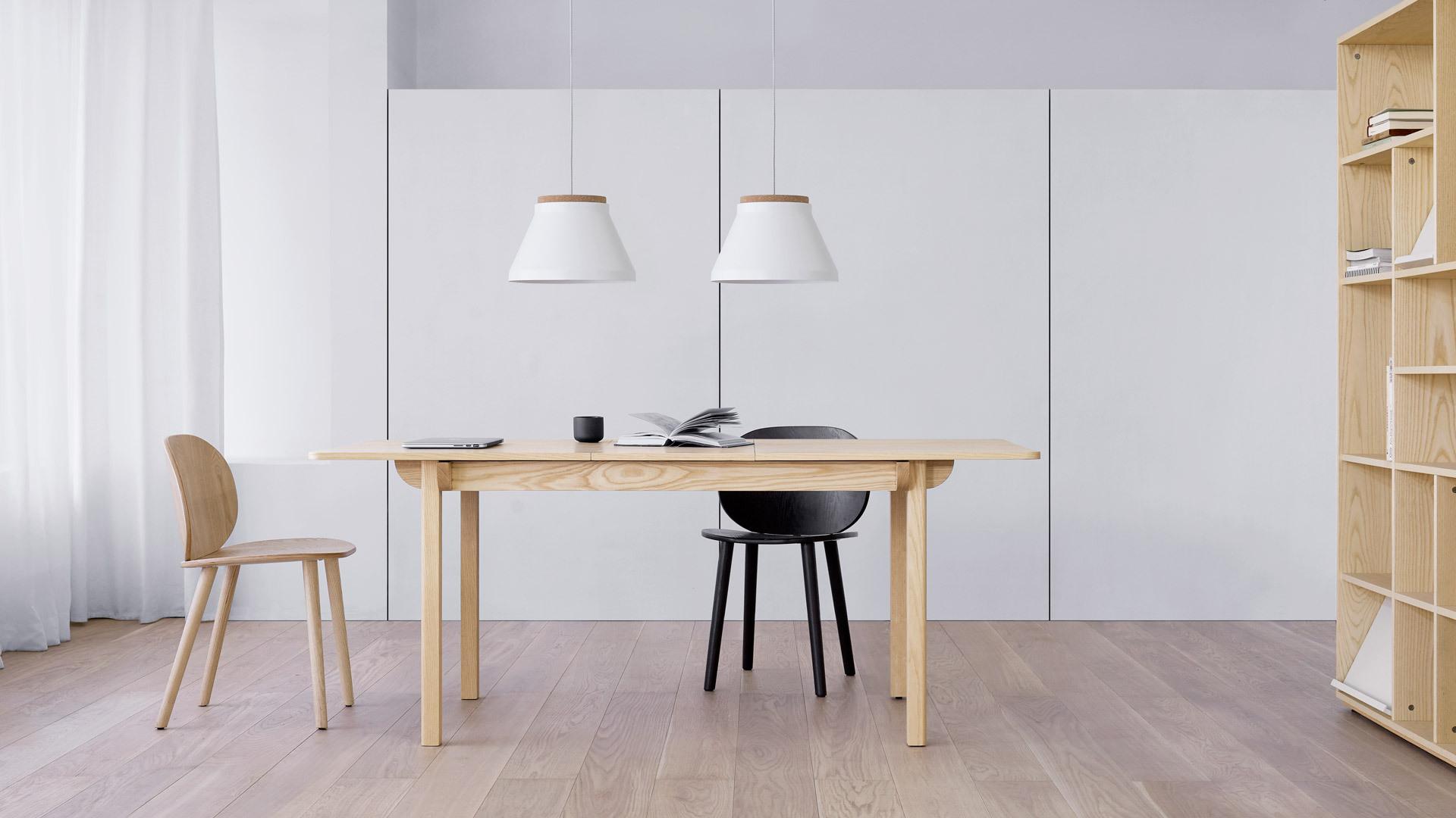 2盏连用,6-8人长桌均匀照明
