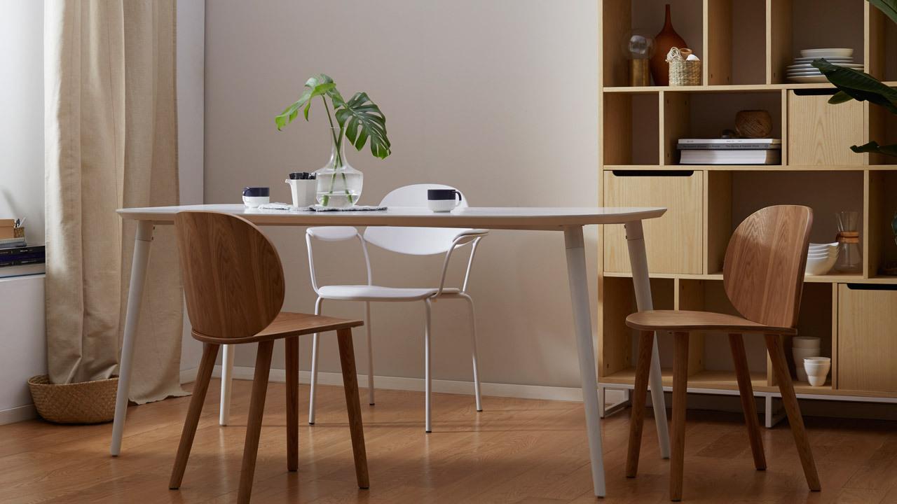 画板餐桌长桌,6人家庭优雅大餐桌