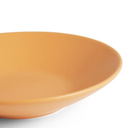 哑光纯色釉面,可安全用于热食冷餐