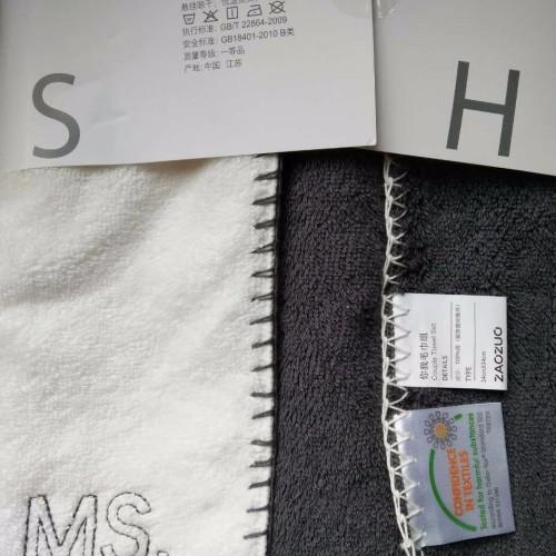 159****5250_Couple毛巾组MR.MS.方巾套装(灰白各2条)怎么样_4