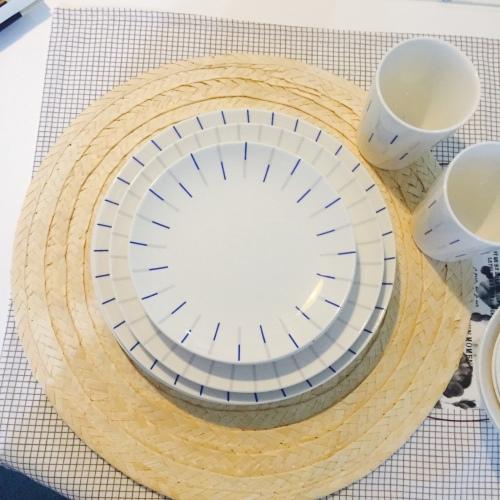 柚子琪_镜线西班牙瓷土餐具组怎么样_1