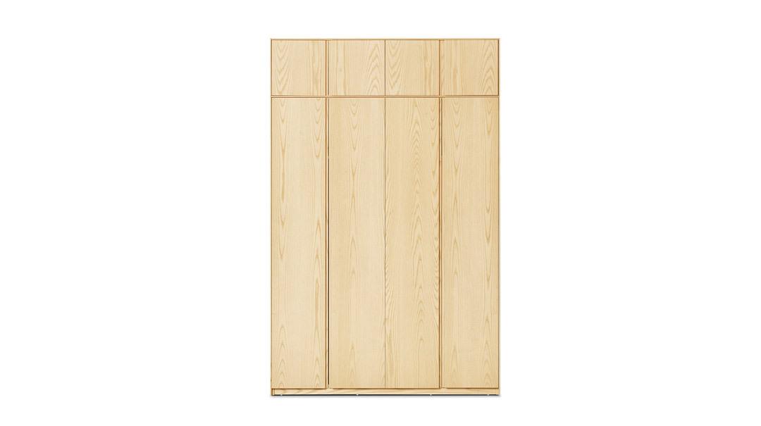 画板四门衣柜有顶柜柜架