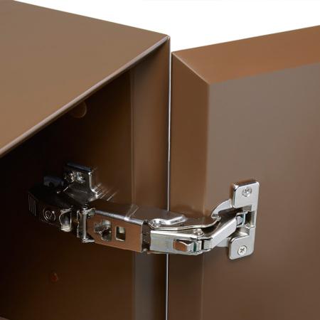 柜门155°最大掀开角度,奥地利原装进口BLUM五金连接,经得起10年以上反复开合