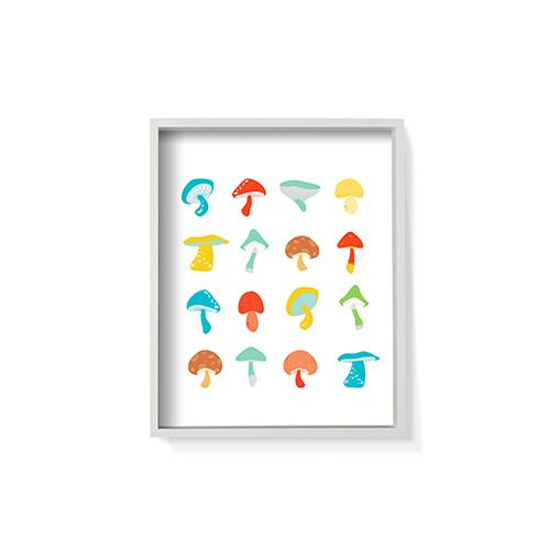 作画-蘑菇系列之彩小号装饰效果图