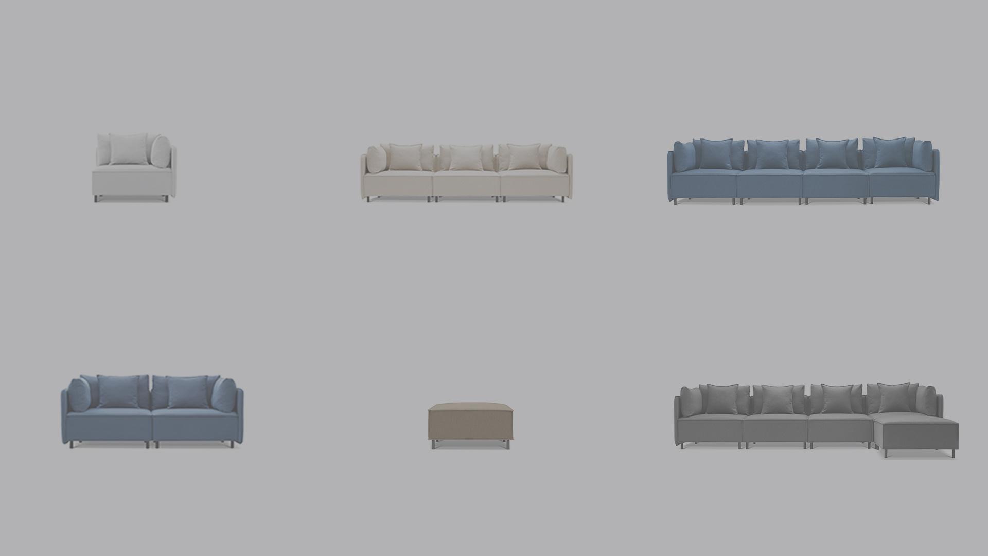 大先生沙发全尺寸自由组配